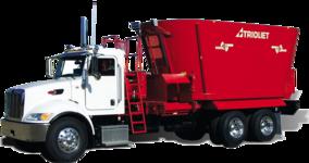 Truck mount mélangeuse